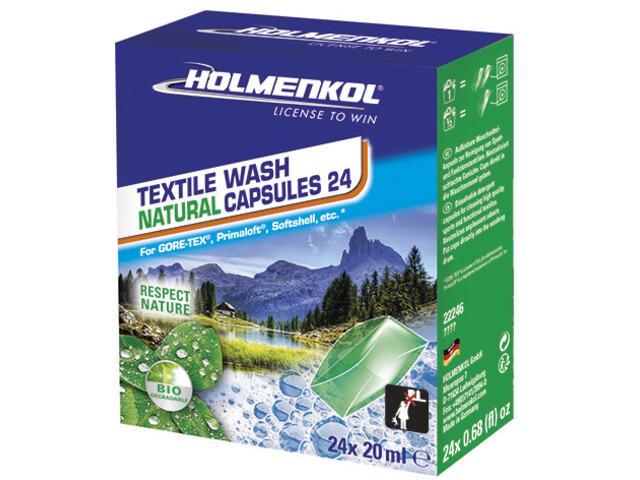 Holmenkol Textile Wash Natural Cápsulas 24 Unidades
